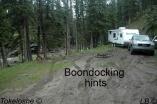 Boondocking hints